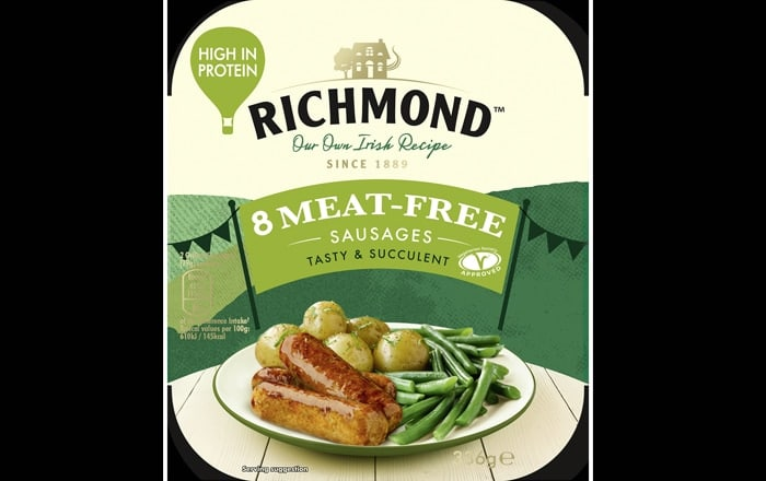 Richmond Launches New Meat-Free Sausages.