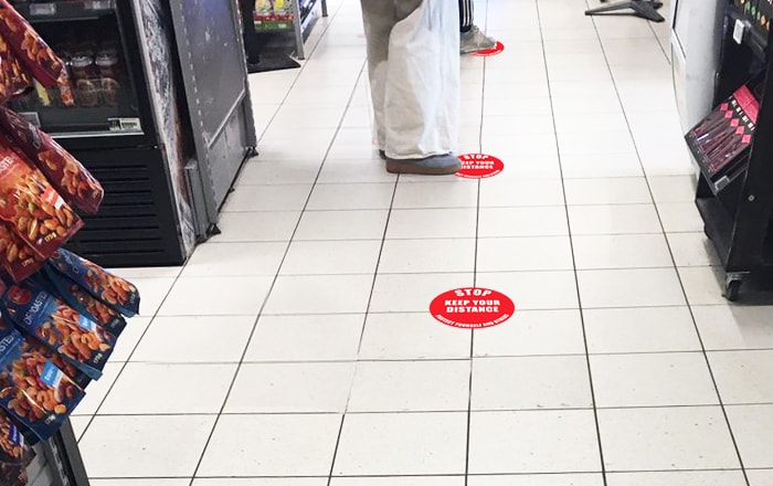 Combat Coronavirus With New Floor Marking Signs And Tapes.