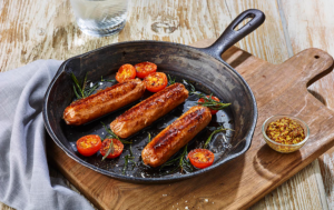 vegan jackfruit sausages